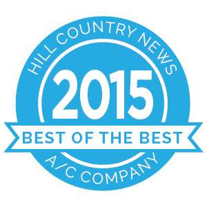 Hill Country News Best of the Best award 2015 badge.