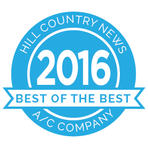 Hill Country News Best of the Best award 2016 badge.